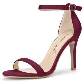 80c282174224 Allegra K Women s Open Toe Stiletto High Heel Ankle Strap Sandals (Size US  ...
