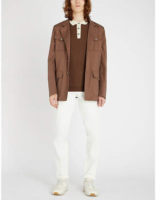 Brunello Cucinelli Funnel-neck cotton field jacket