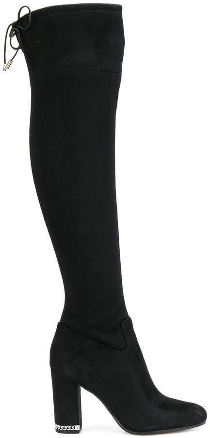 Michael Kors over the knee chain heel detail boots