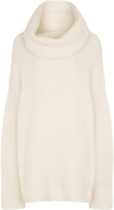 Joseph High Neck Cashmere Purl Stitch Knit