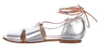 Collection Privée? Metallic Leather Sandals