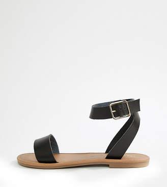 Asos DESIGN Fellow Wide Fit Flat Sandals