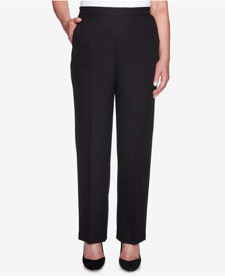 Alfred Dunner Petite Shining Moments Pull-On Straight-Leg Pants