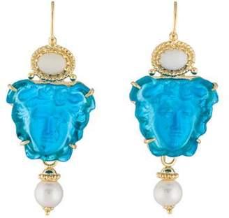 Tagliamonte Opal, Pearl Classica Medusa Drop Earrings