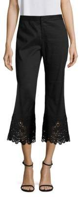 Kobi Halperin Embroidered Lace Flared Pants