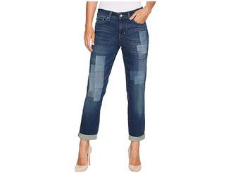 NYDJ Boyfriend Jeans w/ Laser Patch and Embroidery in Horizon Women's Jeans
