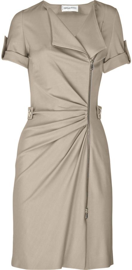 Emilio Pucci Zipped stretch-crepe dress