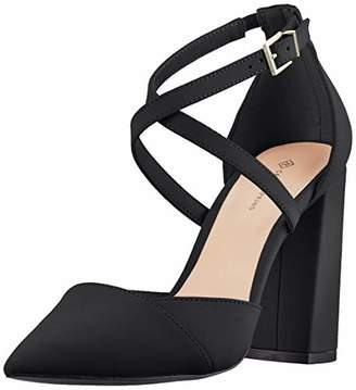 cfdd8de358fa Call it SPRING EU Women s Adiralla Ankle Strap Heels Jet Black 001
