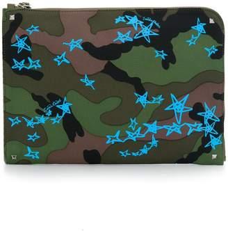 Valentino Zandra Rockstud zipped laptop pouch
