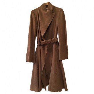 Nicole Farhi Camel Wool Coat for Women