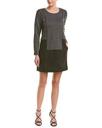BCBGMAXAZRIA Azria Women's Color-Blocked Sweatshirt Dress