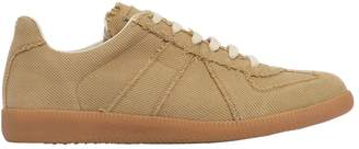 Maison Margiela Replica Washed Cotton Canvas Sneakers
