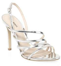 Schutz Taila Metallic Strappy Sandals