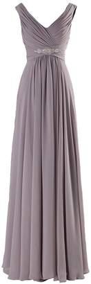 MaliaDress Women Long Chiffon Rhinestone Evening Bridesmaid Dress Prom Gown M160LF US