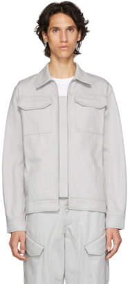 Affix Grey Two-Way Zip Service Jacket