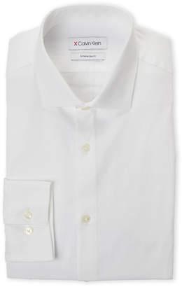 Calvin Klein White Extra Slim Fit Dobby Dress Shirt