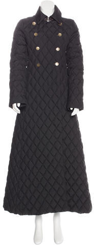 Moncler Moncler Quilted Long Coat