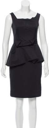 Lela Rose Peplum Sheath Dress