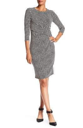 Anne Klein Twisted Dot Dress