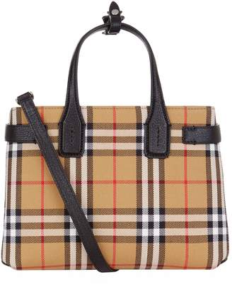 29f3ff25ce9 Burberry Small Check Banner Tote Bag
