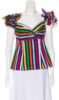 Caroline Constas Striped Sleeveless Top