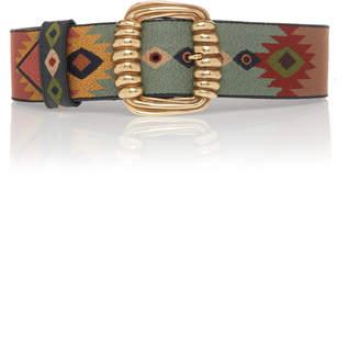 Etro Embellished Jacquard Belt