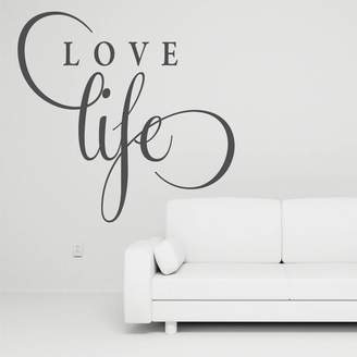 Wall Art 'Love Life' Joined Wall Decal