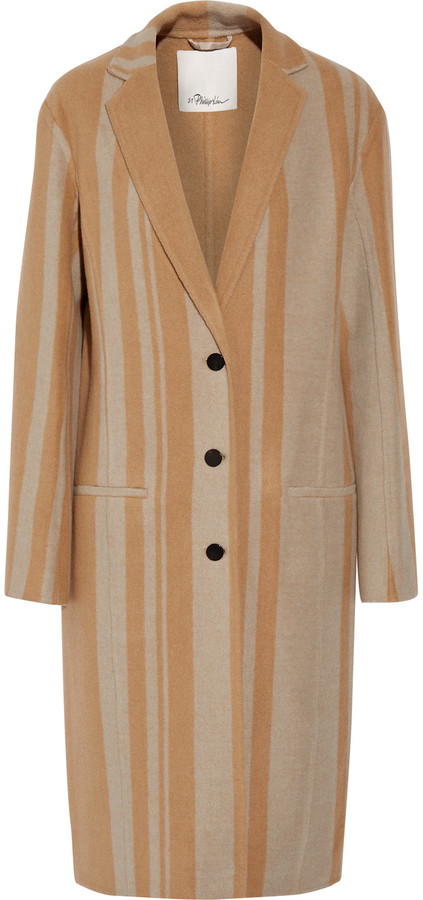 3.1 Phillip Lim3.1 Phillip Lim Striped wool-blend coat
