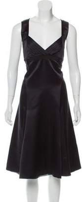 Celine Fluted Satin Dress w/ Tags