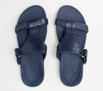 Vionic Adjustable Embossed Platform Slide Sandals - Ellie
