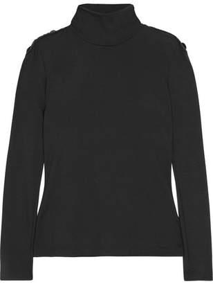 Pierre Balmain Embellished Wool Turtleneck Sweater - Black