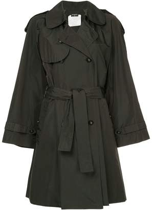 Chanel Pre-Owned belted midi trench coat