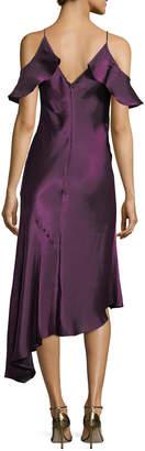 Donna Morgan Cold-Shoulder Taffeta Slip Dress
