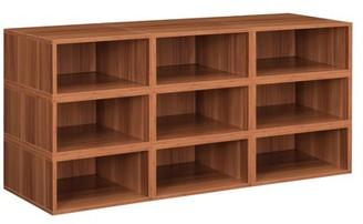 Cubo Niche Storage Set- 9 Half Size Cubes- Warm Cherry