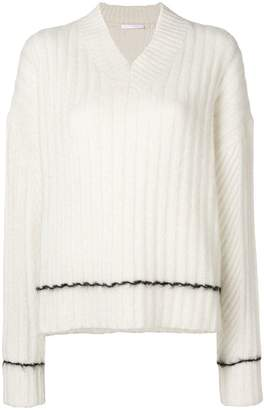 Helmut Lang ribbed V-neck sweater