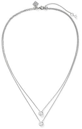 Banana Republic Embedded Stone Layer Pendant Necklace