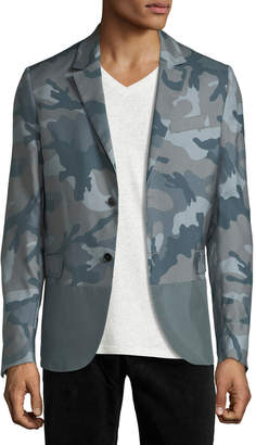 Valentino Silk Camouflage Sport Jacket