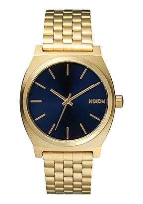 Nixon Time Teller A055 - All Light Gold/Cobalt - 110m Water Resistant Men's Analog Fashion Watch (37mm Watch Face