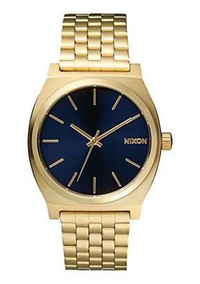 Nixon Time Teller A0451931-00. Light Gold and Cobalt Blue Women's Watch (37mm. Light Gold Metal Band/Cobalt Watch Face)