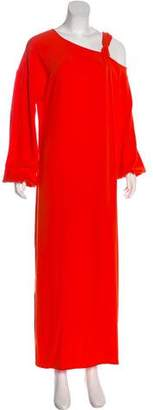 Elizabeth and James Asymmetrical Sleeve Maxi Dress