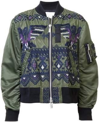 Sacai embroidered bomber jacket