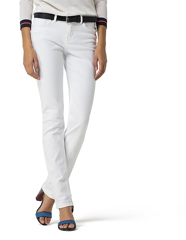 Tommy Hilfiger White Straight Fit Jean