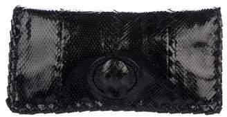 Bottega Veneta Snakeskin Intrecciato Clutch