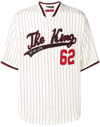 Dolce & Gabbana The King baseball shirt