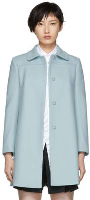 RED Valentino Blue Wool Coat