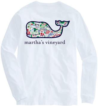 Vineyard Vines Martha's Vineyard Long-Sleeve Whale Christmas Icon T-Shirt