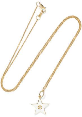 Andrea Fohrman 18-karat Gold, Diamond And Enamel Necklace - one size