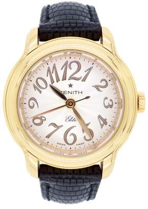 Zenith Baby Star Elite 18K Rose Gold & Leather Automatic 32mm Womens Watch