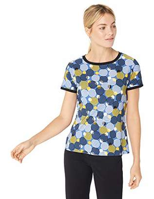 Anne Klein Women's Printed Button Back TEE