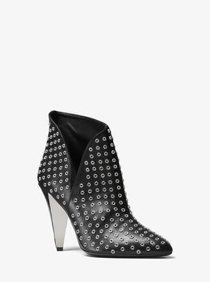 Michael Kors Angelina Grommeted Calf Leather Ankle Boot